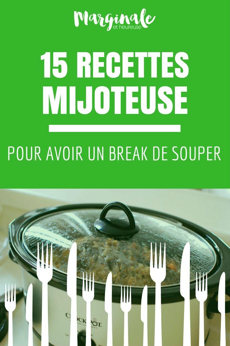 15 recettes à la mijoteuse pour avoir un break de souper ...