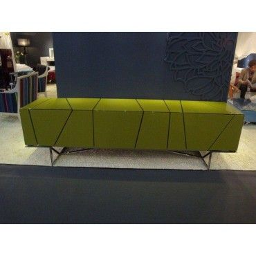 Olivia (SM-D14A) - Green Modern Entertainment Center - Entertainment Centers - Living Room