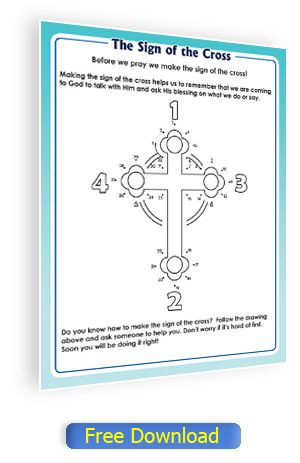 Sign Of The Cross Activity Page For Catholic Children No Log In Required