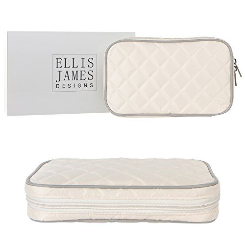 Ellis James Designs Quilted Travel Jewelry Organizer Bag