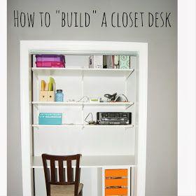 How To Build A Closet Desk Easy