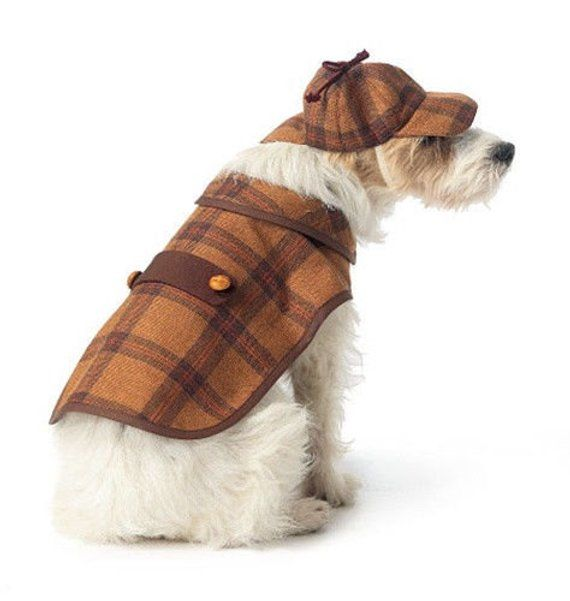 Dog Clothes Pattern Make Sherlock Holmes Steampunk Outfits Boys And Girls Coat And Hat Small Pet Costumes Dog Coats Dog Costume