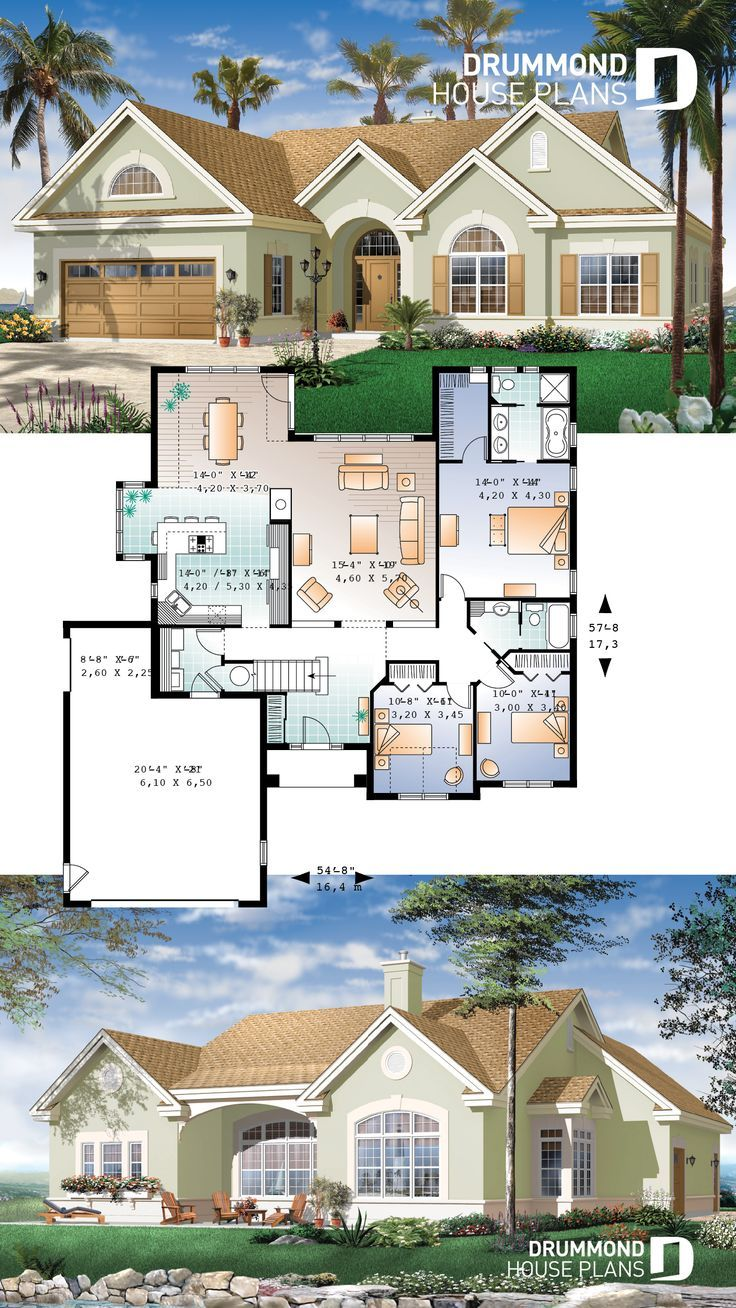 3 Bedroom Bungalow With Fireplace Bonus Space And Garage Bungalow House Plans House Layout Plans Country Cottage House Plans