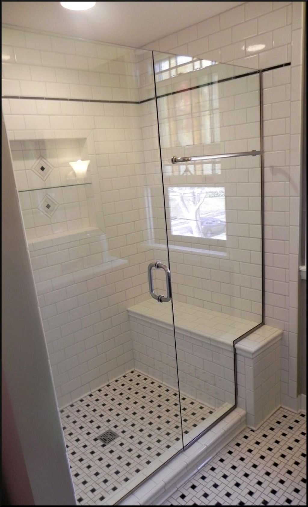 Bathroom Shower Stalls With Seats | Shower seat, Tile ideas and ...