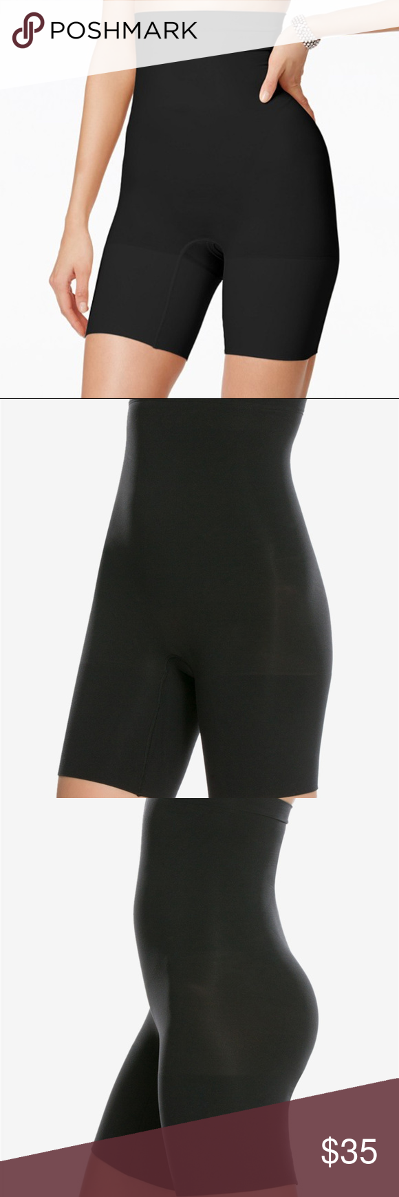 Black S Star Power by Spanx Women/'s Firm Control On Air High-Waisted Girl Short