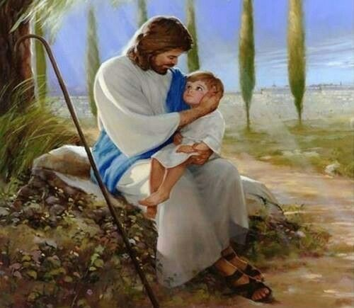 Picture of Jesus with a child on his lap    Jesus pictures, Jesus christ, Christ