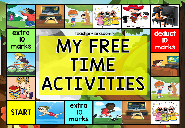 YEAR 2 (2019) UNIT 5 MY FREE TIME ACTIVITIES BOARD GAME