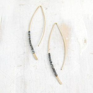 Image of black gold crescent earring s/m/l