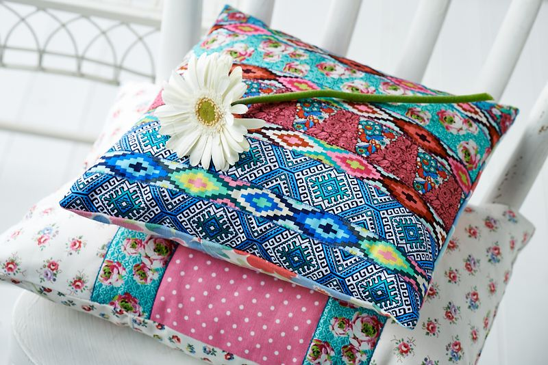 Make these beautiful cushions with Amy Butler\'s Hapi braids from ...