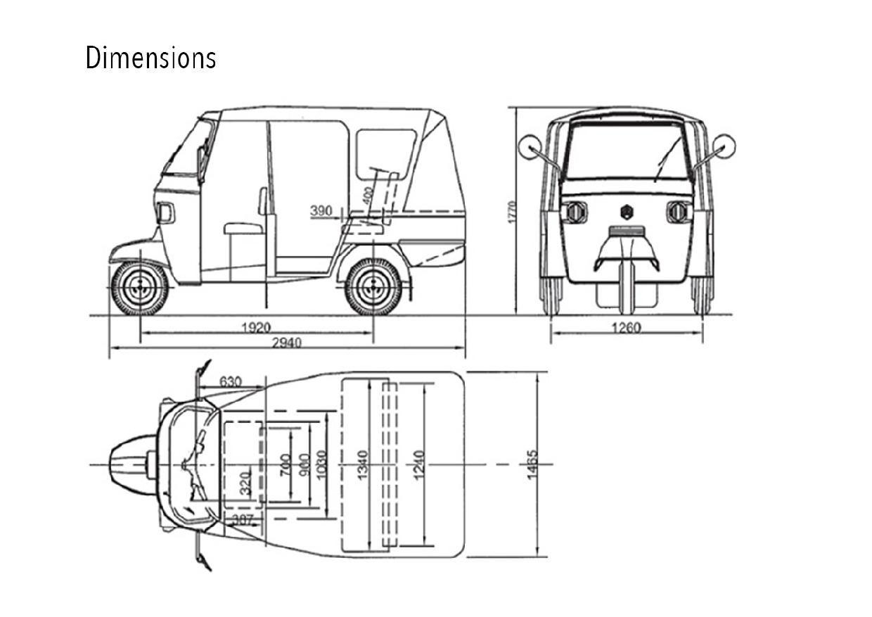 Image Result For Tuk Tuk Dimensions