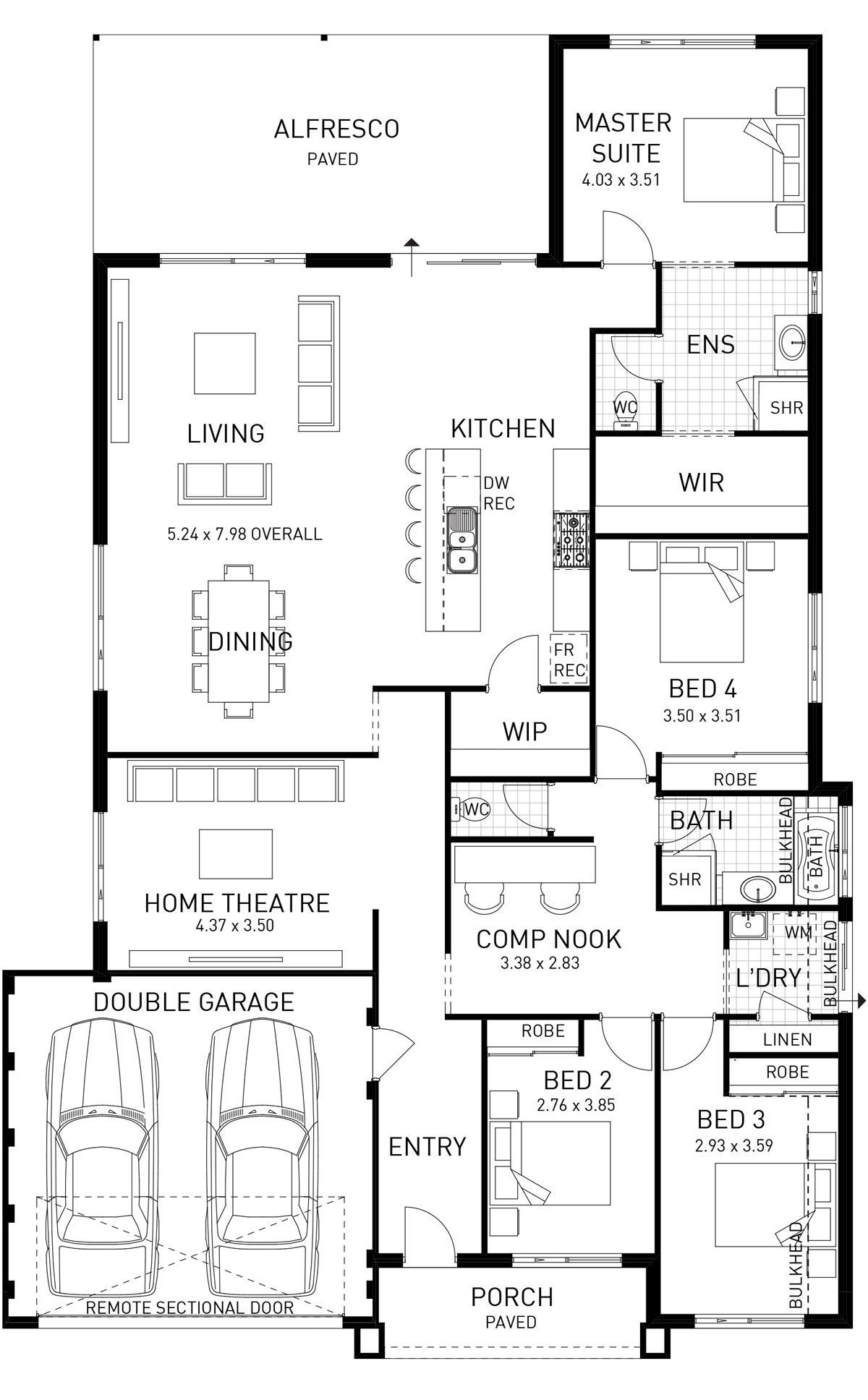 Move laundry and toliet to somewhere else verona single storey home design foundation floor plan wa also rh pinterest