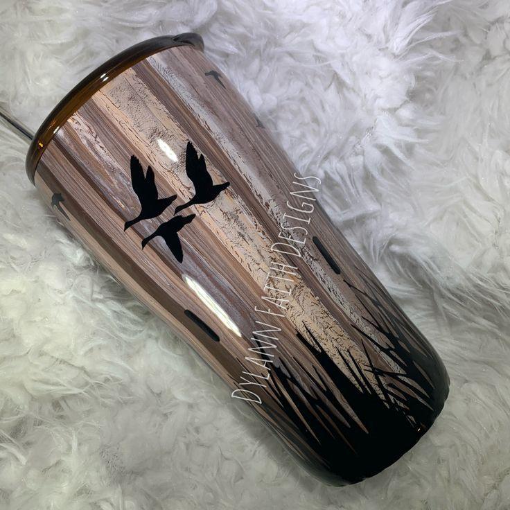 Duck hunting tumbler yeti cup designs tumbler cups