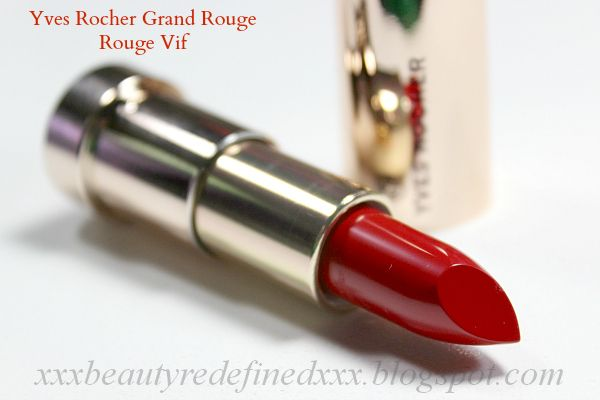 Yves Rocher Grand Rouge Rouge Vif - Swatch and Review