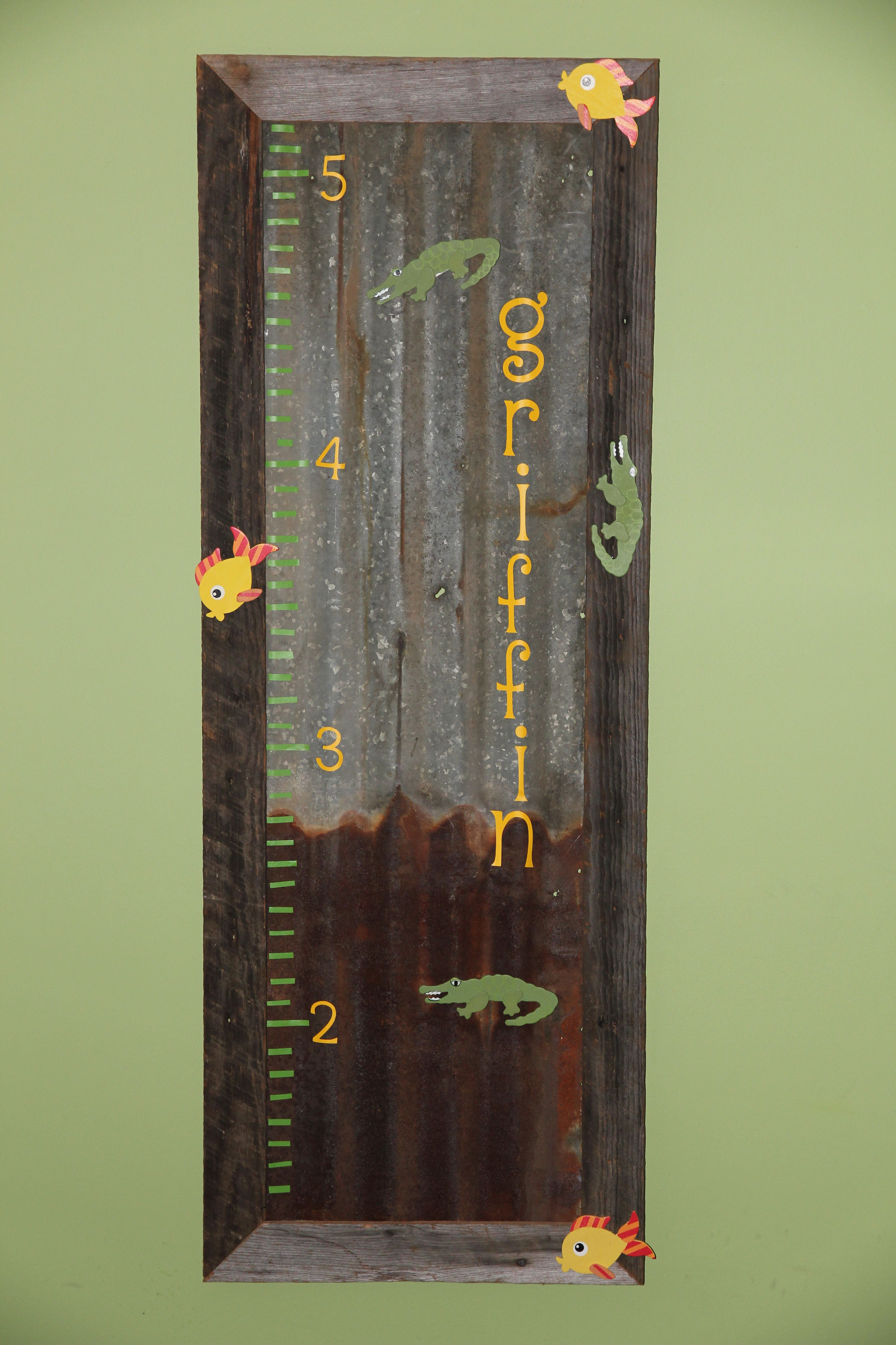 Growth chart from old barn tin arts and crafts pinterest barn