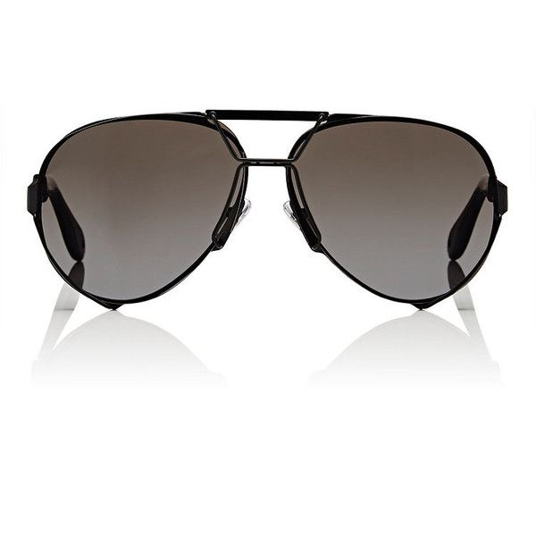 Givenchy Women's Aviator Sunglasses ($545) ❤ liked on Polyvore featuring accessories, eyewear, sunglasses, multi, clear lens sunglasses, matte sunglasses, wrap around sunglasses, givenchy sunglasses and clear aviator glasses