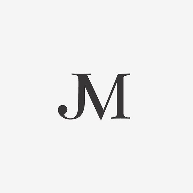 This Mark Combines A J And M Into One Composition But If You Squint And Look At It Again It Just Looks Like A Fancy J Tattoo Tattoo Lettering Letter J