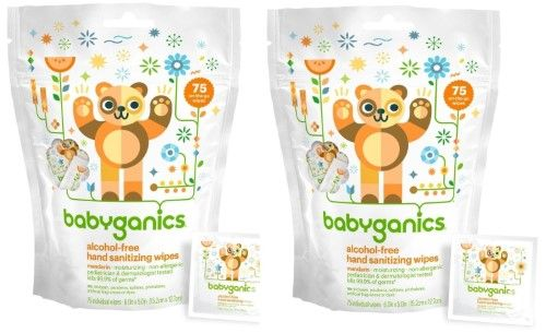 Babyganics Hand Sanitizer Wipes Individually Packaged Citrus