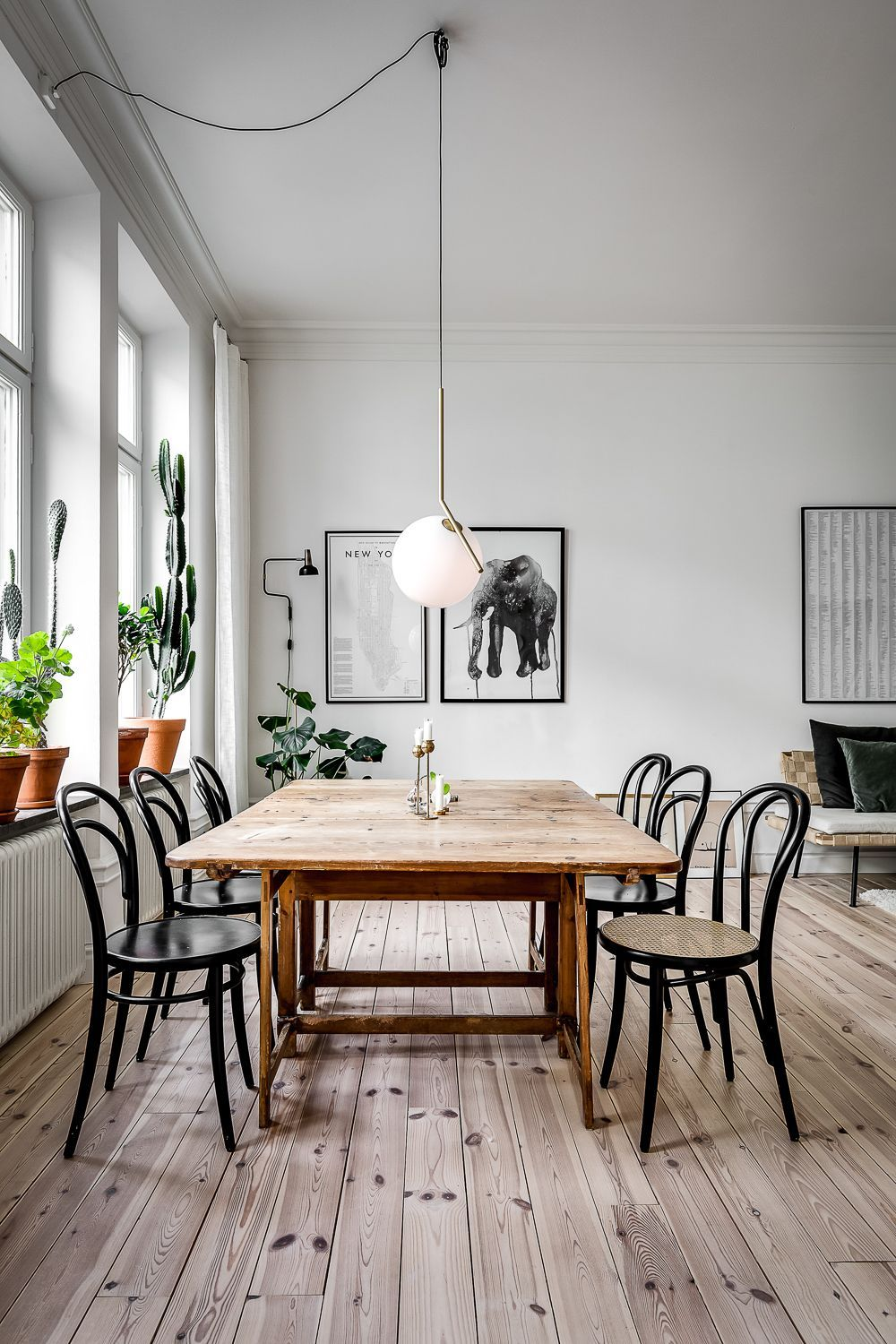 Octagon Kitchen Table Scandinavian Dining Room Minimalist