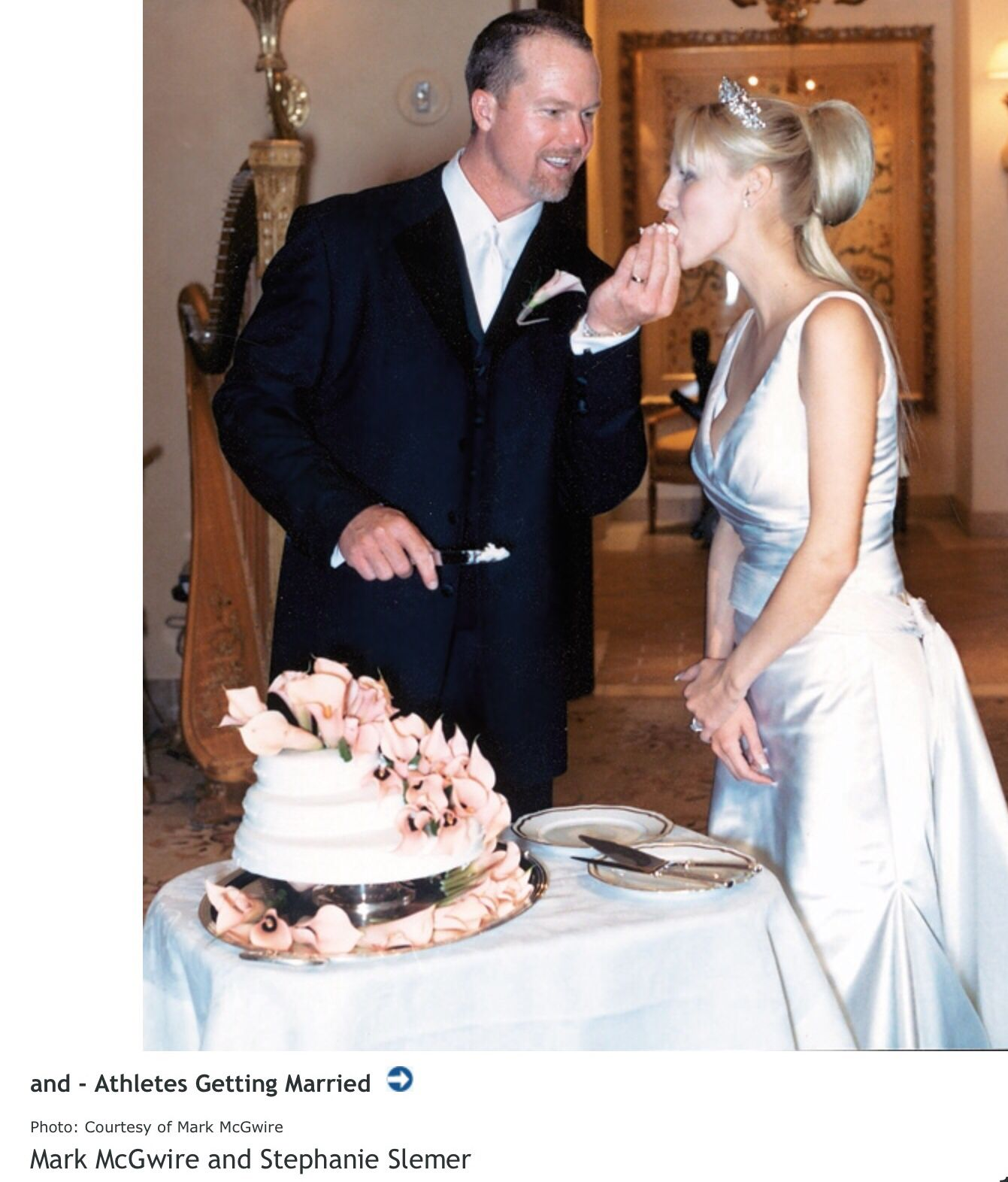 Mark McGwire and Stephanie Slemer married 2002