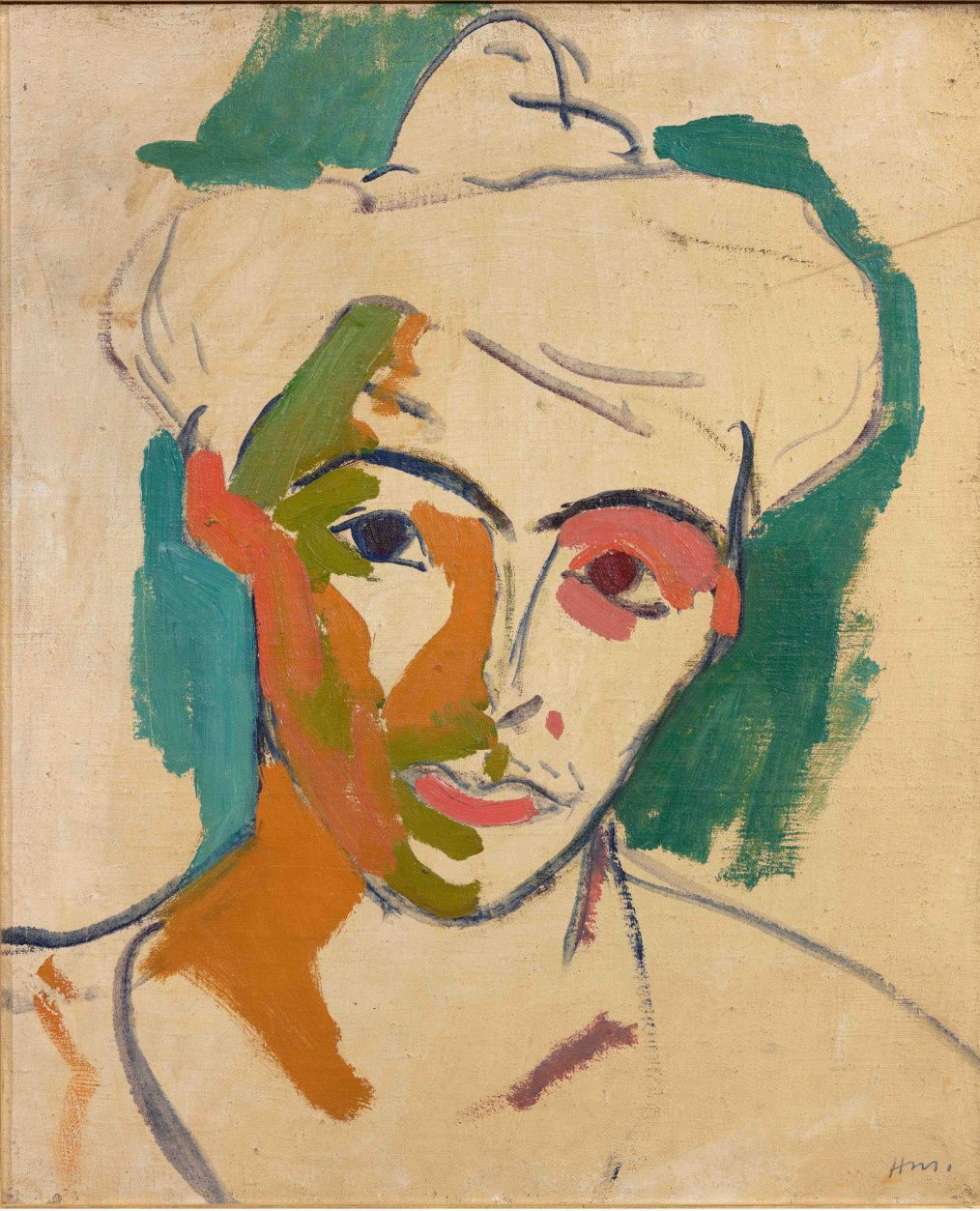 Henri Matisse (French, Fauvism, 1869-1954). 1905, Portrait de madame Matisse, Collioure