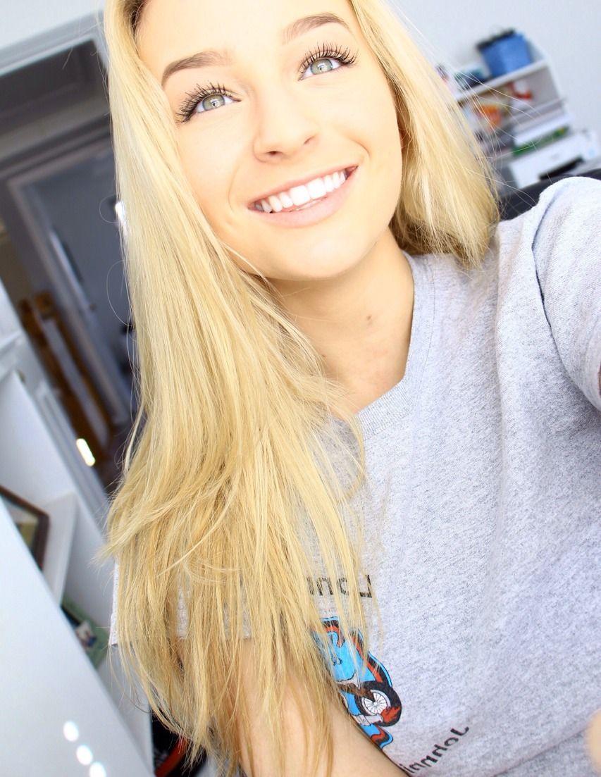 Cute blonde teen selfie