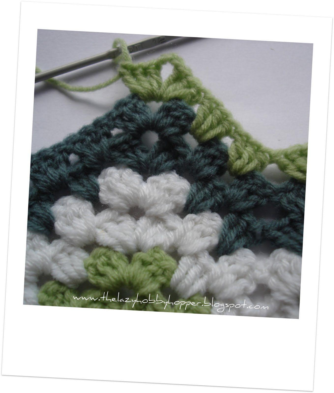 O Hobbyhopper preguiçoso: Como a ondulação crochê vovó