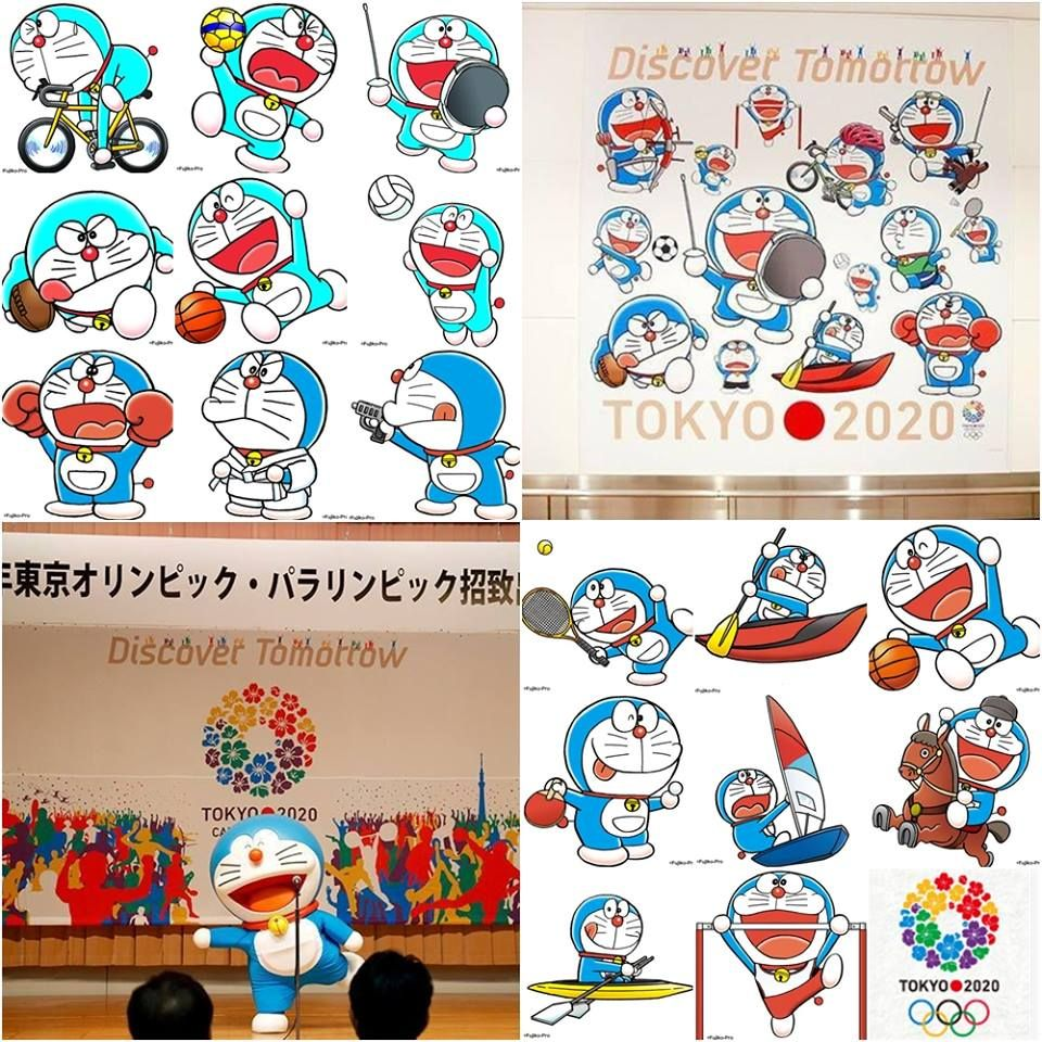 tokyo 2020 summer olympics using the famous anime character doraemon as the mascot icon on all sporting events the robo cat has been selected as the olym ドラえもん