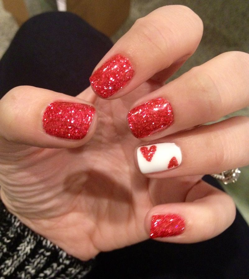 easy to do valentine's day nails
