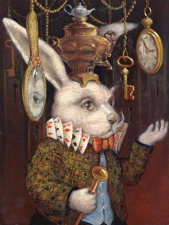 Lapin Alice Au Pays Des Merveilles : lapin, alice, merveilles, ALICE, WONDERLAND, VLADIMIR, OVTCHAROV, Alice, Merveilles, Lapin,, Illustration