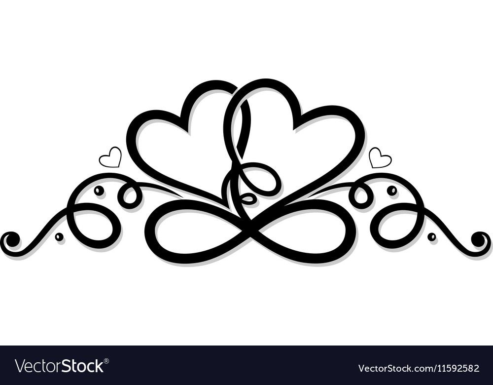 Download Infinity with two hearts vector image on | Love symbols ...