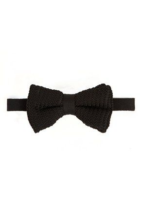 Knitted Symbol Bow Tie Mens Accessories French Connection