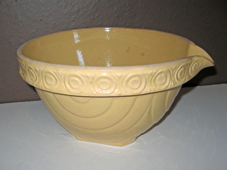 Yellow Ware Batter Bowl | Antique Ironstone, Crocks ...