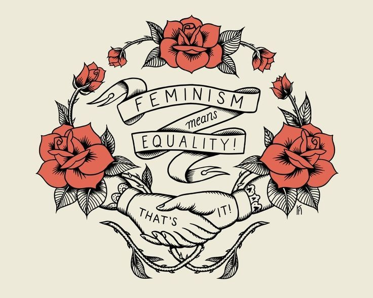 Feminism Means Equality by Kjersi Faret, an art print by Artists for the People