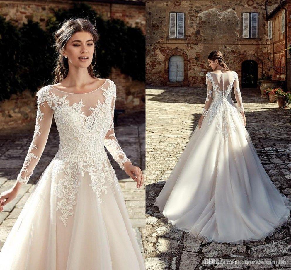 Lace Wedding Dress Designers Long Bridal Gown Wedding Dresses Lace Long Sleeve Wedding Gowns