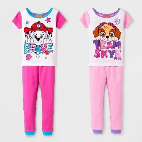 87f05b1c4 PAW Patrol Toddler Girls' PAW Patrol Team Skye 4pc Cotton Pajama Set - Pink