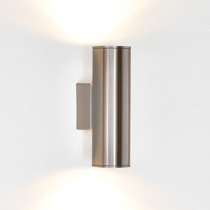 Outdoor Wall Lighting Eglo riga twin led outdoor wall light stainless steel the secret eglo riga twin led outdoor wall light stainless steel workwithnaturefo
