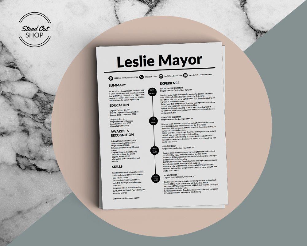 Leslie Mayor Resume Template For Microsoft Word  Leslie Mayor
