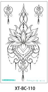 Photo of Mallana Boho Lotus Chandelier Jewelry Temporary Tattoo  Mallana Boho Lotus Chand…