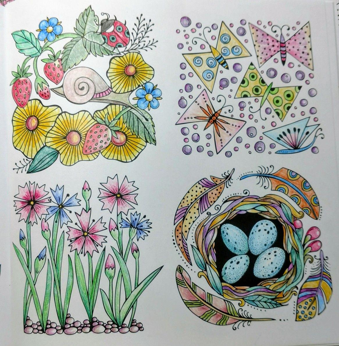 Fruhlings Spazlergang By Rita Berman Colored By Me 4 26 17 Ausmalen Beautiful