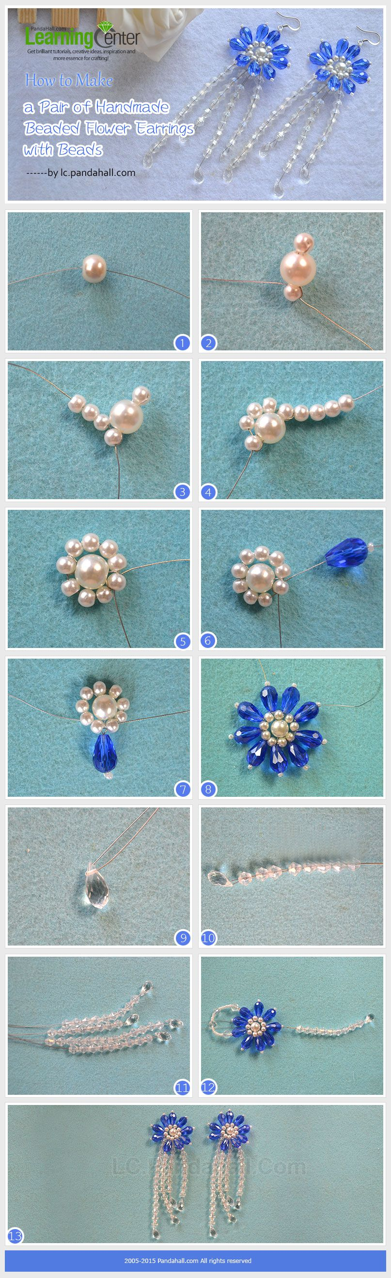 A Pair Of Handmade Beaded Flower Earrings Jewelry Seed Bead Jewelry Beaded Jewelry