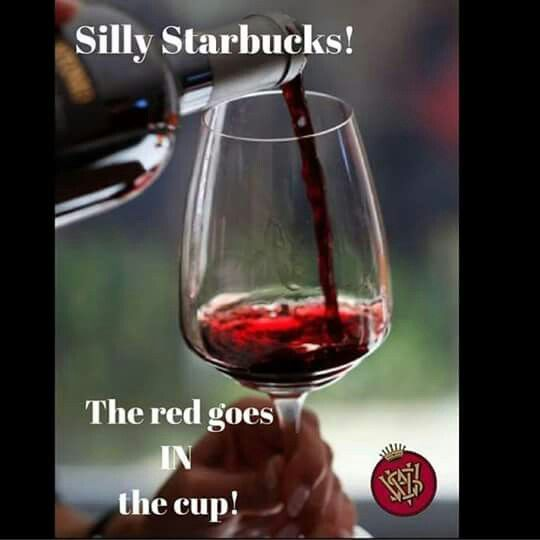 Red goes in the cup