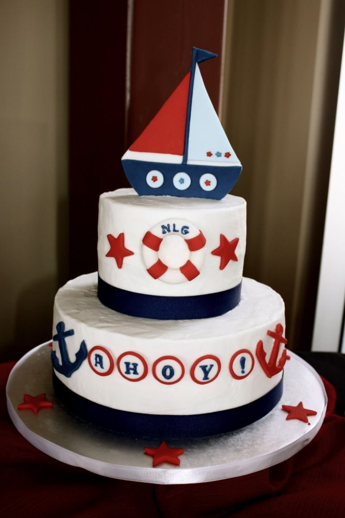 Nautical Baby Shower Cake Nautical Cake Sailboat Cakes