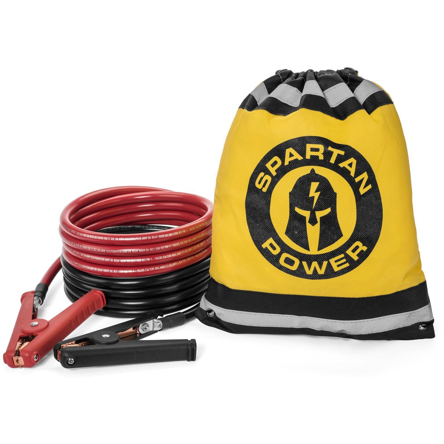 15 Foot 1 0 Awg 0 Gauge Heavy Duty Jumper Cables Booster Set By Spartan Power 1 0 Awg 15 Foot Made In The Usa Check Ou Heavy Duty Yellow Storage 10 Feet