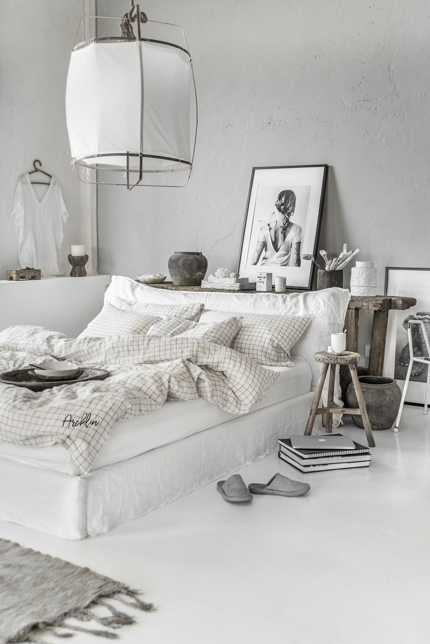 Magic linen beddings  charcoal grid portfolio paulina arcklin photography styling cosy interior also best home design ideas images future house decor bedrooms rh pinterest