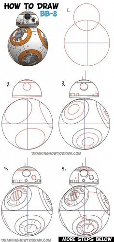 How To Draw Bb 8 Beeby Ate Droid From Star Wars Drawing