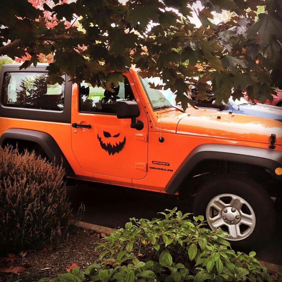 Halloween Jeep  Orange jeep wrangler, Orange jeep, Jeep
