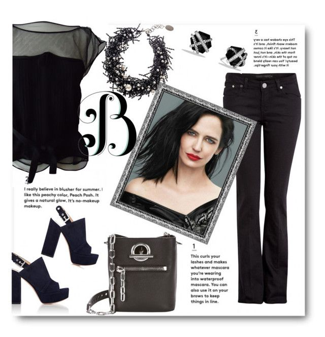 """""""B is for Black"""" by ahapplet ❤ liked on Polyvore featuring Louis Vuitton, dVb Victoria Beckham, Alexander Wang, Gianvito Rossi, Black, David Yurman, black and ahapplet"""