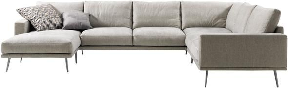 charming modern furniture living room corner fabric sofa sectional mcno422 | NEW Carlton Sectional with resting unit, available in all ...