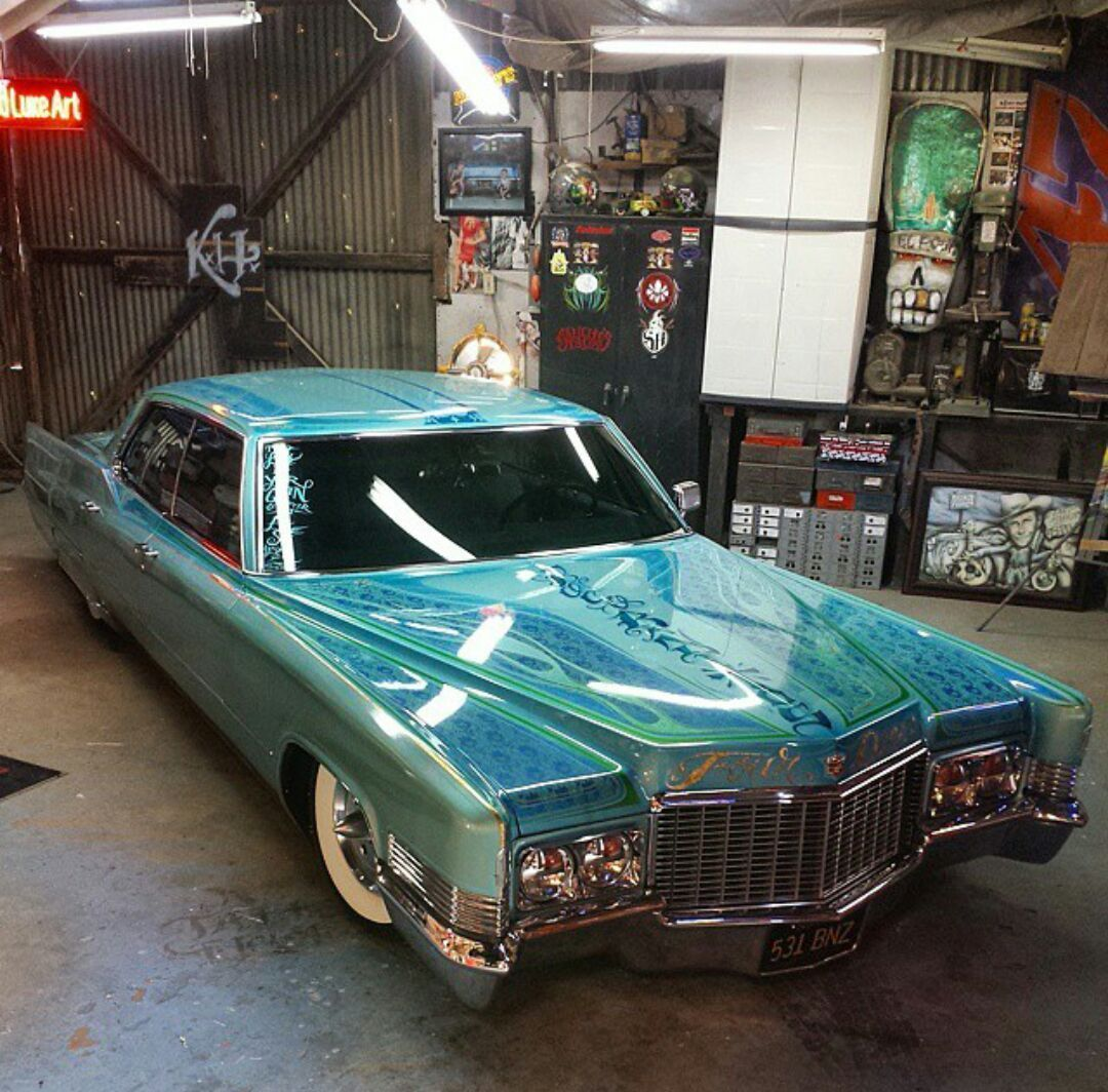 Hot Paint 1970 cadillac deville custom air bagged custom paint hot rod
