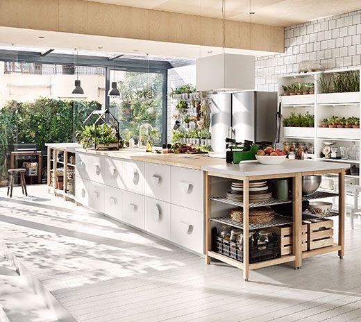 UDDEN Dunstabzugshaube f Wandmontage, graugrün - ikea küche udden